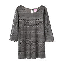 Buy Joules Bethany Lace Top, Slate Online at johnlewis.com