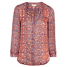 Buy Joie Pazim Printed Blouse, Terracotta Rose Online at johnlewis.com