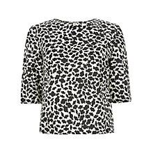 Buy People Tree Fiona Top, Black Online at johnlewis.com