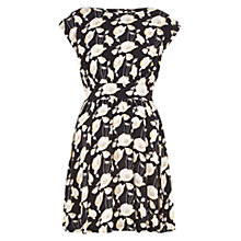 Buy Louche Diane Poppy Print Dress, Black Online at johnlewis.com