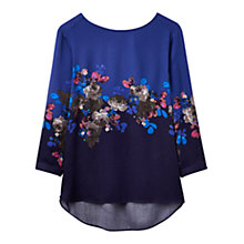 Buy Joules Hope Floral Printed Shell Top, Navy Online at johnlewis.com