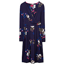 Buy Joules Monica Printed Jersey Dress, Navy Online at johnlewis.com