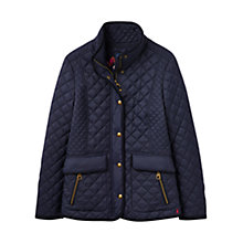 Buy Joules Newdale Classic Fit Quilted Jacket, Marine Navy Online at johnlewis.com