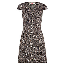 Buy Louche Cathleen Sepia Floral Print Dress, Black Online at johnlewis.com