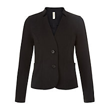 Buy People Tree Harlow Jacket, Black Online at johnlewis.com