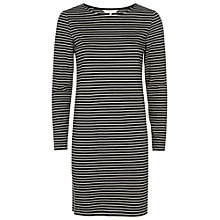 Buy People Tree Malena Stripe Dress, Black Online at johnlewis.com