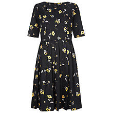 Buy People Tree Ramona Flared Dress, Black Online at johnlewis.com