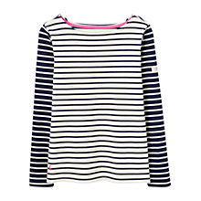 Buy Joules Harbour Printed Stripe Jersey Top, Cream Hotch Potch Online at johnlewis.com