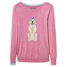 Buy Joules Marsha Intarsia Dog Jumper, Fondant Pink Online at johnlewis.com