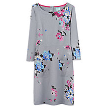 Buy Joules Amy Floral Print Jersey Dress, Grey Soft Posy Online at johnlewis.com