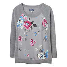 Buy Joules Paloma Floral Print Jumper, Soft Grey Posy Online at johnlewis.com