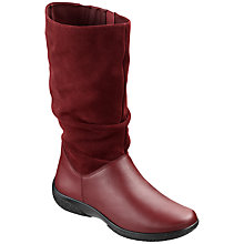Buy Hotter Mystery Mid Calf Boots, Burgundy Leather Online at johnlewis.com