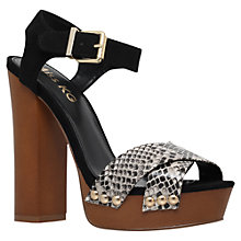 Buy Miss KG Gabby Platform Block Heeled Sandals, Black Online at johnlewis.com