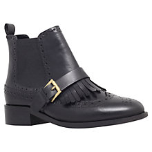 Buy Miss KG Stirling Fringe Detailing Ankle Boots, Black Leather Online at johnlewis.com