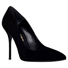 Buy Kurt Geiger Ellen Court Shoes, Black Suede Online at johnlewis.com