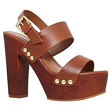 Buy Miss KG Gogo Block Heeled Platform Sandals, Tan Online at johnlewis.com