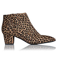 Buy L.K. Bennett Eloisa Pony Block Heel Ankle Boots, Leopard Online at johnlewis.com