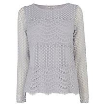 Buy Coast Anaya Lace Top, Silver Online at johnlewis.com