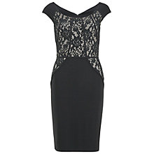 Buy Gina Bacconi Sequin Detail Stretch Dress, Black Online at johnlewis.com