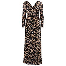 Buy Gina Bacconi Long Mesh Dress, Beige Online at johnlewis.com