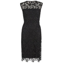 Buy Gina Bacconi Swirled Flower Guipure Dress, Black Online at johnlewis.com
