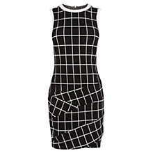 Buy Karen Millen Ponte Roma Check Dress, White Multi Online at johnlewis.com