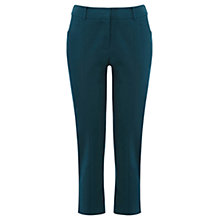 Buy Oasis Crop Cotton Trousers, Mid Green Online at johnlewis.com