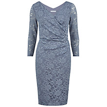 Buy Gina Bacconi Sparkly Lace Wrap Dress, Blue Online at johnlewis.com
