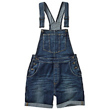 Buy Fat Face Vintage Dungaree Shorts, Denim Online at johnlewis.com
