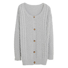 Buy Violeta by Mango Textured Cardigan, Medium Grey Online at johnlewis.com
