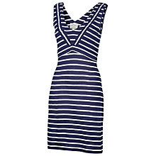 Buy Fat Face Sarah Stripe Dress, Navy Online at johnlewis.com