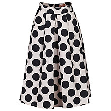 Buy Jolie Moi Polka Dot A-Line Skirt, Black Online at johnlewis.com