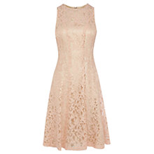 Buy Coast Eliza Lace Dress, Blush Online at johnlewis.com