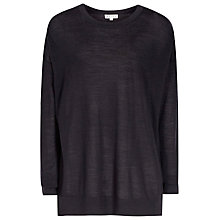 Buy Reiss Margaux Fine Gauge Jumper, Night Navy Online at johnlewis.com