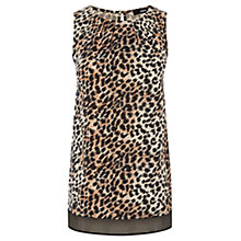 Buy Oasis Animal Chiffon Hem Vest Top, Multi Brown Online at johnlewis.com