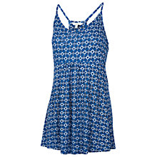 Buy Fat Face Sitara Racer Geometric Print Camisole, Blue Online at johnlewis.com