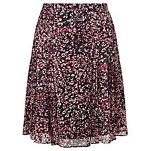 Buy Jigsaw Petal Print Flippy Skirt, Pink Multi Online at johnlewis.com
