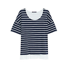 Buy Violeta by Mango Striped Cotton T-Shirt, Navy Online at johnlewis.com