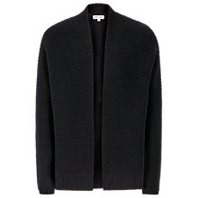 Buy Reiss Rib Edge Cardigan, Night Navy Online at johnlewis.com