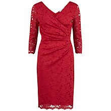 Buy Gina Bacconi Floral Lace Wrap Dress, Red Online at johnlewis.com