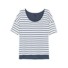 Buy Violeta by Mango Striped Cotton T-Shirt Online at johnlewis.com