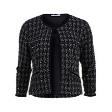 Buy Gina Bacconi Dogtooth Check Sequin Jacket, Pewter Online at johnlewis.com