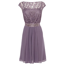 Buy Coast Lori Lee Lace Short Dress, Pale Lilac Online at johnlewis.com