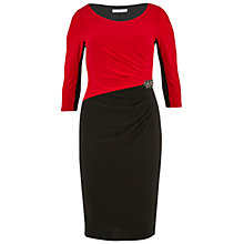 Buy Gina Bacconi Embellished Jersey Dress, Red Online at johnlewis.com