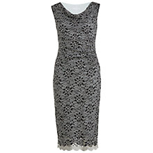 Buy Gina Bacconi Scallop Stretch Lace Cowl Neck Dress, Silver Online at johnlewis.com