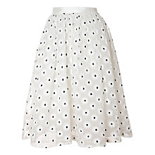 Buy True Decadence Mesh Midi Skirt, White Online at johnlewis.com