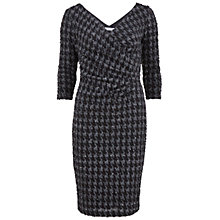 Buy Gina Bacconi Dogtooth Check Sequin Dress, Pewter Online at johnlewis.com
