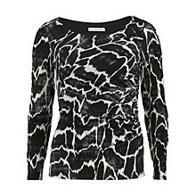 Buy Gina Bacconi Skin Print Top, Black/Ivory Online at johnlewis.com