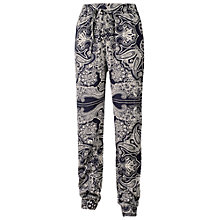 Buy Fat Face Printed Bandana Trousers, Navy Online at johnlewis.com