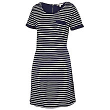 Buy Fat Face Tenby Stripe Dress, Navy Online at johnlewis.com